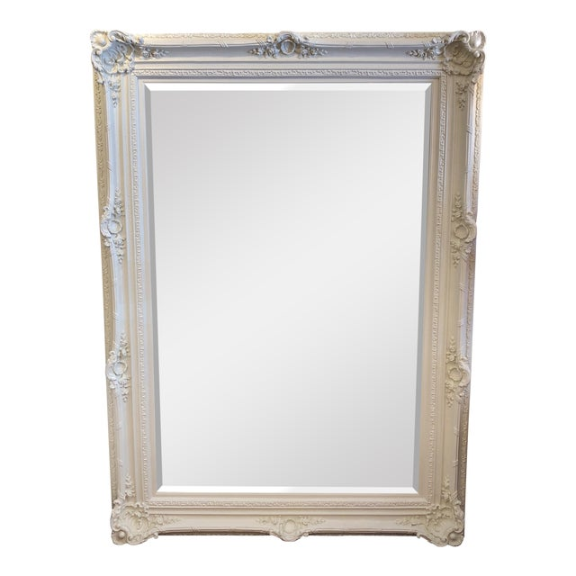 Rachel Ashwell Renaissance Large White Mirror For Sale
