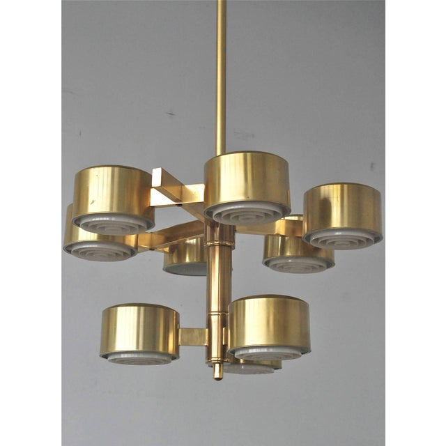 White Oversized Chandelier by Hans-Agne Jakobsson For Sale - Image 8 of 11