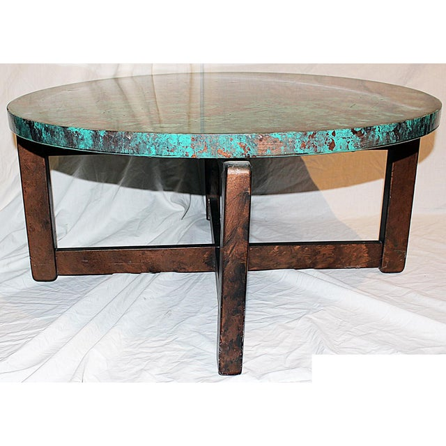 Teal 1980s Robert Cohen Faux Finished End Tables (2 Available) For Sale - Image 8 of 8