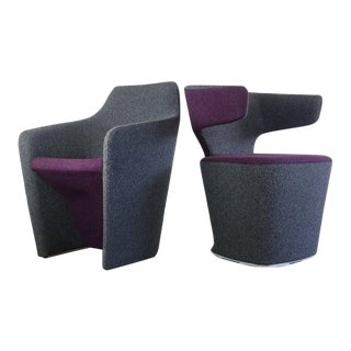 Pair of Bison / Venus Lounge Chairs by Allermuir, United Kingdom For Sale