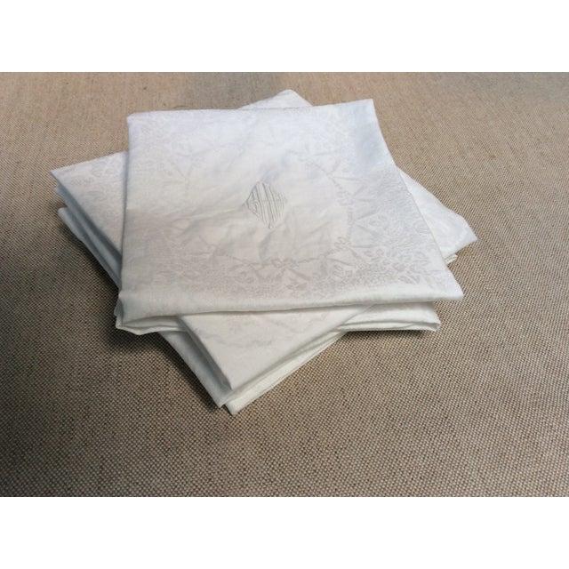 Linen Antique French Linen Napkins - Set of 6 For Sale - Image 8 of 12