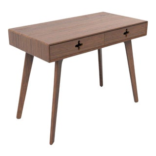 Minimalist Walnut Vanity Table For Sale