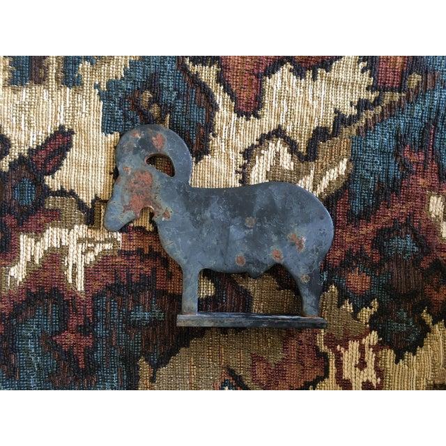Vintage Cast Iron Ram Rustic Decor - Image 2 of 5