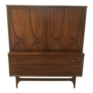 Mid-Century Broyhill Brasilia Gentlemen's Dresser Highboy For Sale