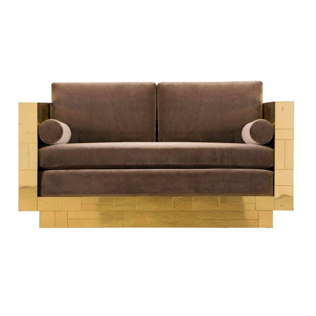 Paul Evans Brass Settee For Sale - Image 10 of 10