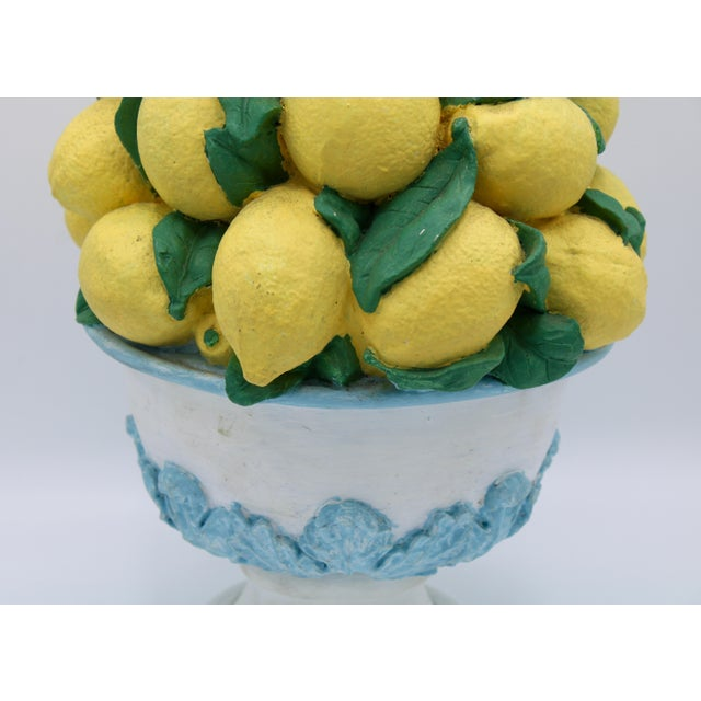 Yellow Tall Vintage French Lemon Topiary Basket / Centerpiece For Sale - Image 8 of 11