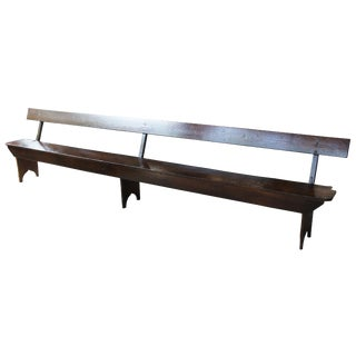 Early 20th Century Antique Customizable Shaker Church Pew Bench For Sale