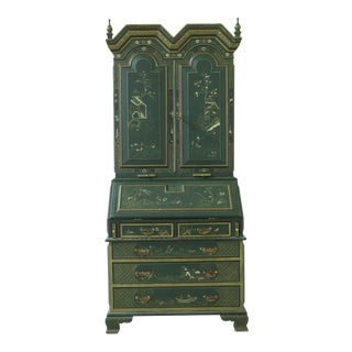 Maitland Smith Small Scale Chinoiserie Secretary Desk For Sale