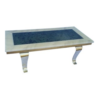 Mid-Century Muller's Onyx Brass Coffee Table Mexico For Sale