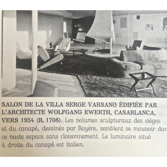 "Jean Royère Jean Royere Stunning Documented Pair of Lounge Chairs Model ""Varsano"" For Sale - Image 4 of 13"