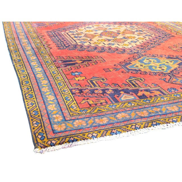 "Vintage Mashad Wool Area Rug - 5' X 6'11"" - Image 3 of 3"
