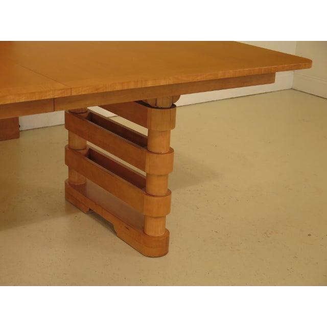 Baker Furniture Company Baker Modern Design Satinwood Mahogany Dining Room Table For Sale - Image 4 of 13