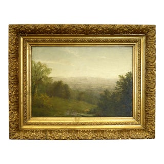 19th Century Landscape Oil Painting by Richard William Hubbard For Sale