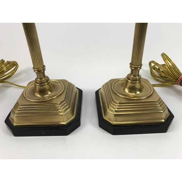 Frederick Cooper Brass & Lucite Buffet Lamps - A Pair - Image 9 of 10
