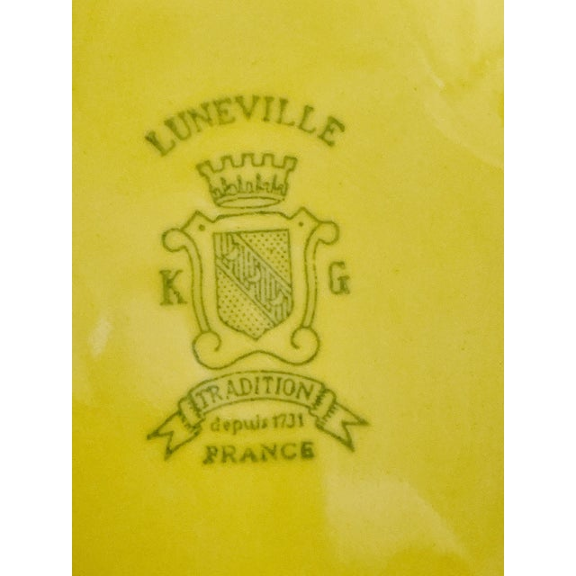 Vintage Ca. 1950s Luneville Tradition France Louis XV Yellow Tureen For Sale - Image 9 of 10