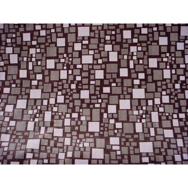 2010s Modern Brunschwig Et Fils Br-88173 Mosaic Velvet Bark Brown Upholstery Fabric- 12 Yards For Sale - Image 5 of 5
