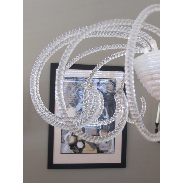 1950s A Shapely and Good Quality Murano 1950's 3-Light Waterfall Chandelier For Sale - Image 5 of 6