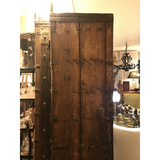 Original Antique Salvaged Hand-Made Indian Doors For Sale - Image 11 of 12