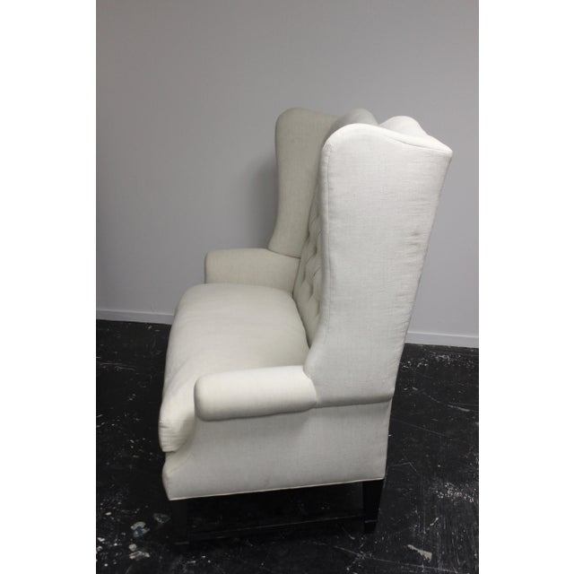 Early 21st Century Tufted Wing Back Sofa For Sale - Image 5 of 6