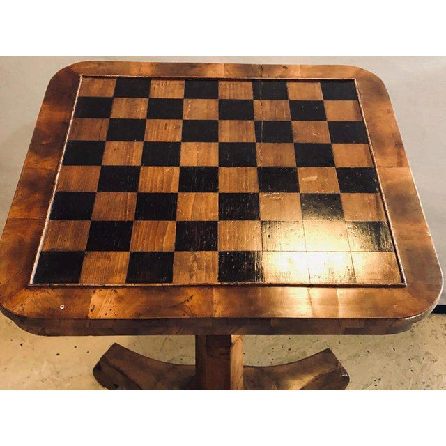 Late 19th Century A 19th Century English Tilt Top Game Checkerboard or Card Table For Sale - Image 5 of 11