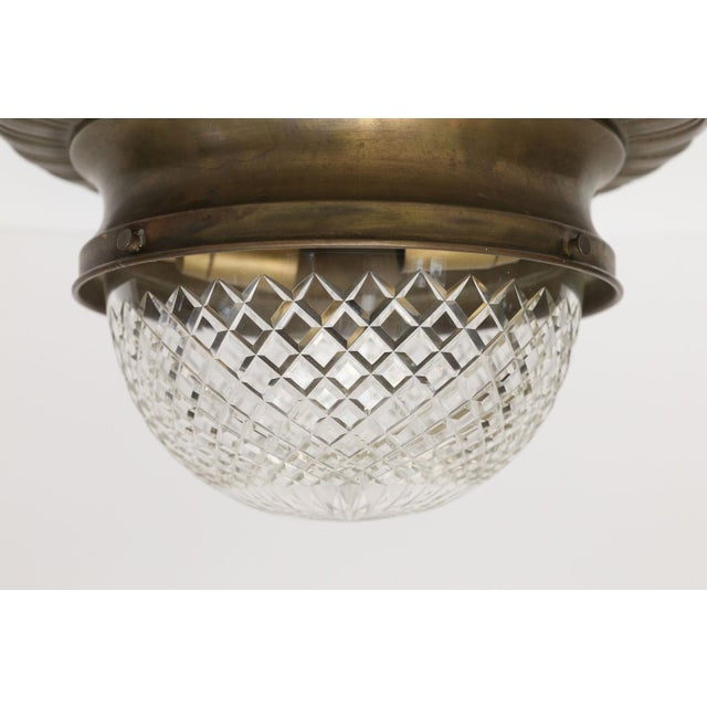 Brass Repousse Flush Mount Light For Sale - Image 7 of 11