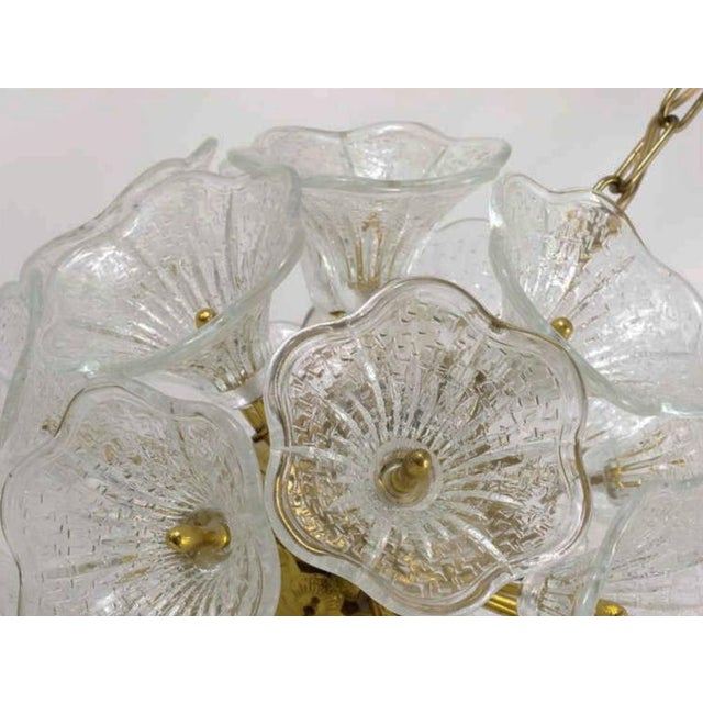 1960s Sputnik Chandelier with Murano Glass Flowers, 1960s For Sale - Image 5 of 6