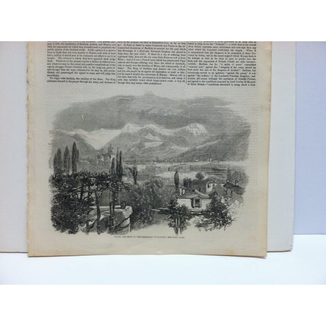 "English 1859 Antique Illustrated London News ""Turin - the Seat of the Sardinian Monarchy"" Print For Sale - Image 3 of 5"