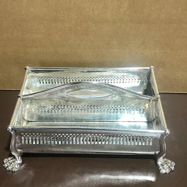 Silver Rare Sheffield Plate Cutlery Box For Sale - Image 8 of 10