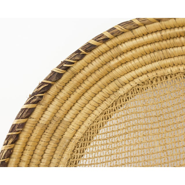 Large Bohemian Woven Basket For Sale - Image 4 of 8