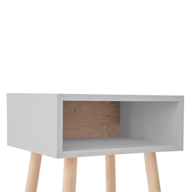 Minimo Modern Kids Hardwood Nightstand. A bunkhouse for your books, a classic storage solution. Put everything your heart...