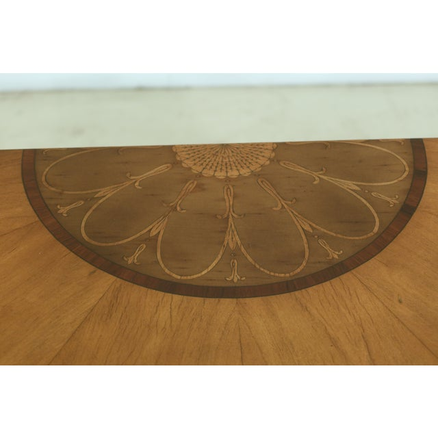 Gorgeous Highly Inlaid Paint Decorated Adam Console Table For Sale - Image 4 of 12
