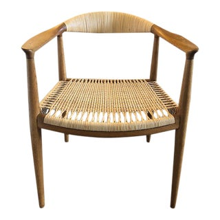 1950s Vintage Hans Wegner 'The Chair' Armchair For Sale