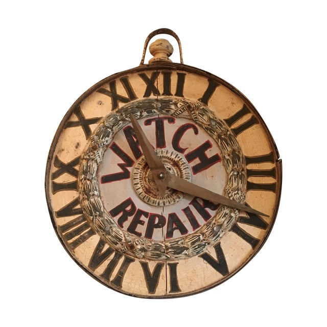 Antique Watch Repair Sign - Image 1 of 5
