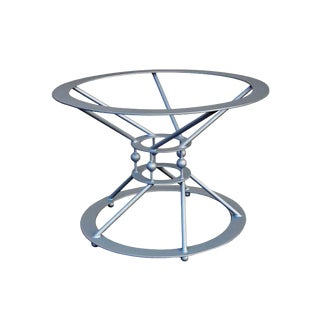 Industrial Round Custom Dining Table Base by Invictus Steelworks For Sale