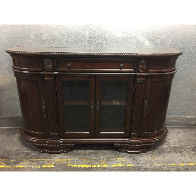Bellagio Brown Cherry Finish Server Buffet Cabinet - Image 3 of 11