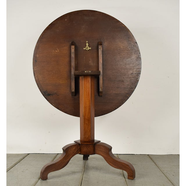 French Antique Louis Philippe Tilt-Top End Table - Image 8 of 9