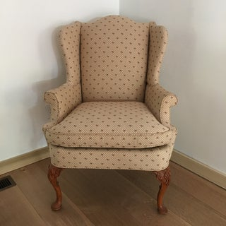 1990s Vintage Southwood Fairington Queen Anne Wing Chair Preview