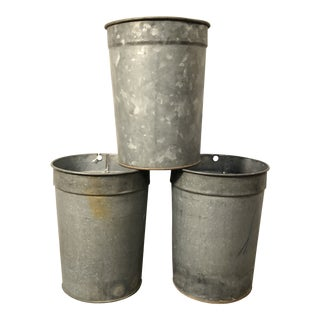 1960s Vintage Vermont Sap Buckets- Set of 3 For Sale