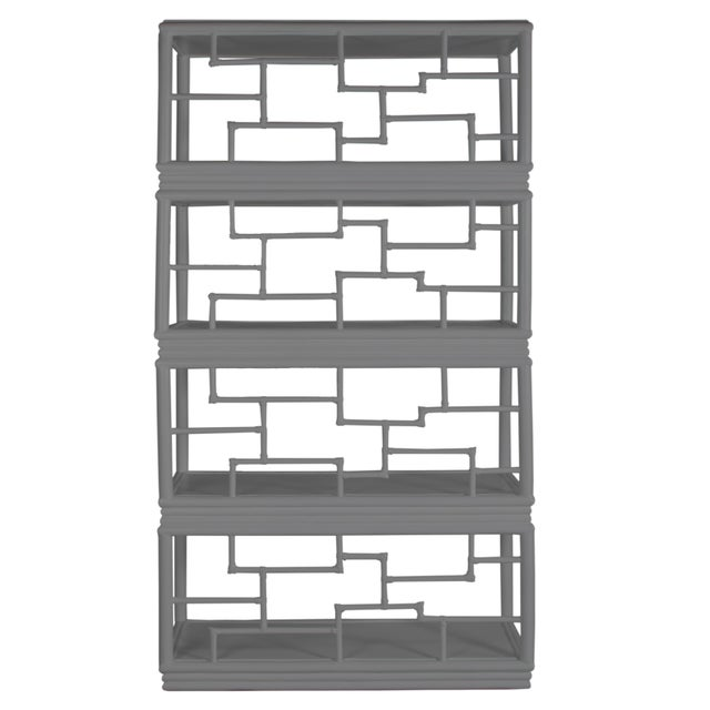 David Francis Tibet Etagere - Light Gray For Sale - Image 4 of 7