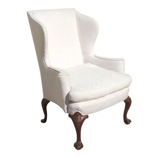 White American Wingback Chair For Sale