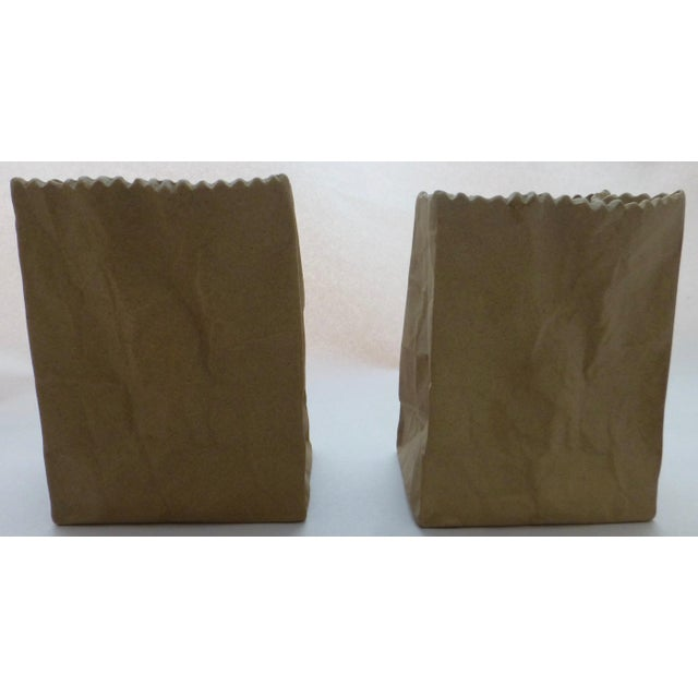Rosenthal Tapio Wirkkala Rosenthal Paper Bag Vases- A Pair For Sale - Image 4 of 10