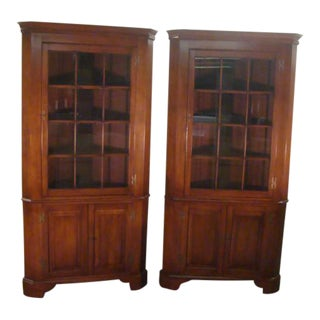 Henkel Harris Solid Cherry Cabinets-A Pair For Sale