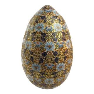 Large Cloisonné Sculptural Egg Decor For Sale