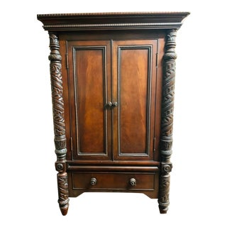 1990s Ralph Lauren Safari Collection Mahogany Armoire For Sale