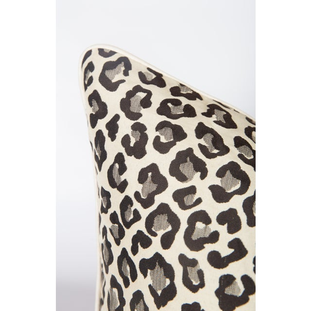 Primitive Black & Grey Leopard Pillows - A Pair For Sale - Image 3 of 4
