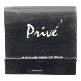 Club Prive Black Matchbook For Sale