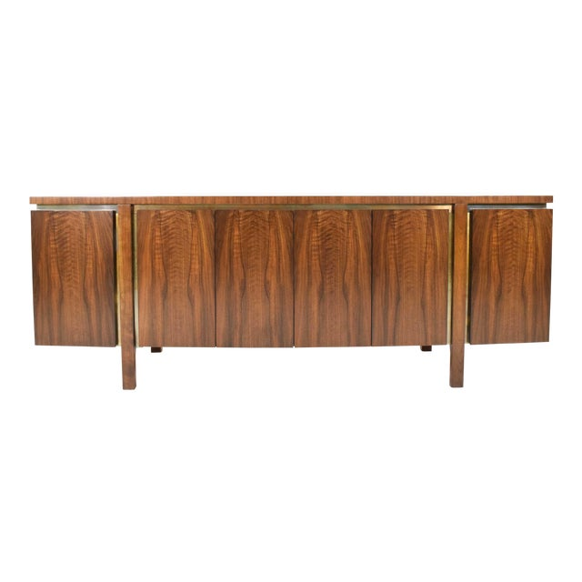 1960s Widdicomb Credenza or Sideboard in Walnut With Parquet Patterned Top For Sale