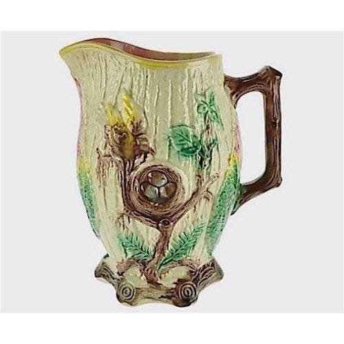 Antique Majolica Bird Pitcher For Sale - Image 5 of 5