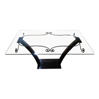 Glass Top & Steel Table
