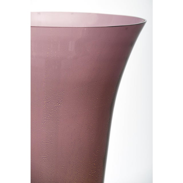 Purple Murano Glass Urn Lamps For Sale - Image 9 of 11
